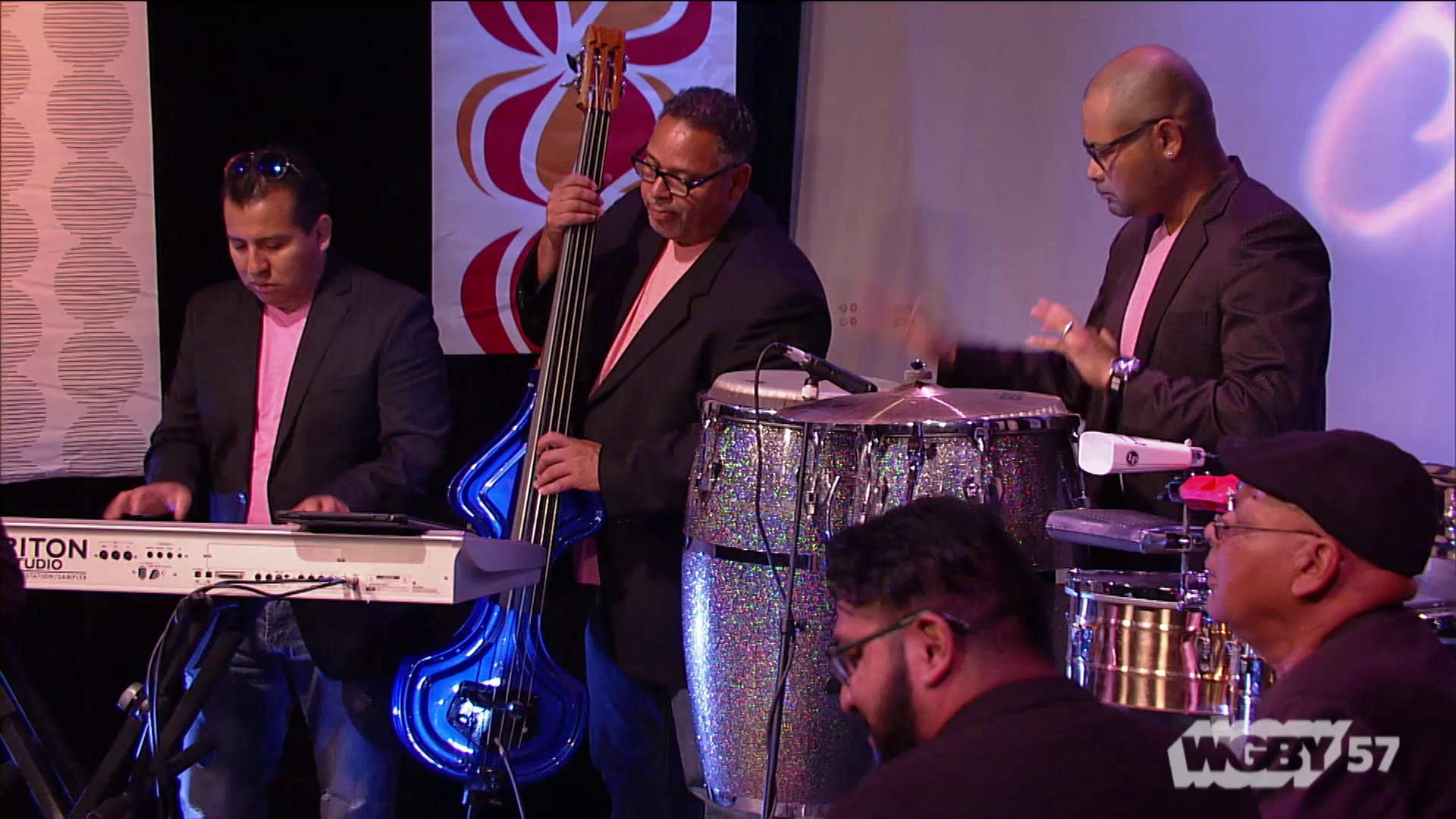 "Led by Bernando Orejuela and 11 other artists/musicians, Grupo Sabor Latino is a Peruvian musical band. Here the group performs ""El Negrito Chinchivi."""