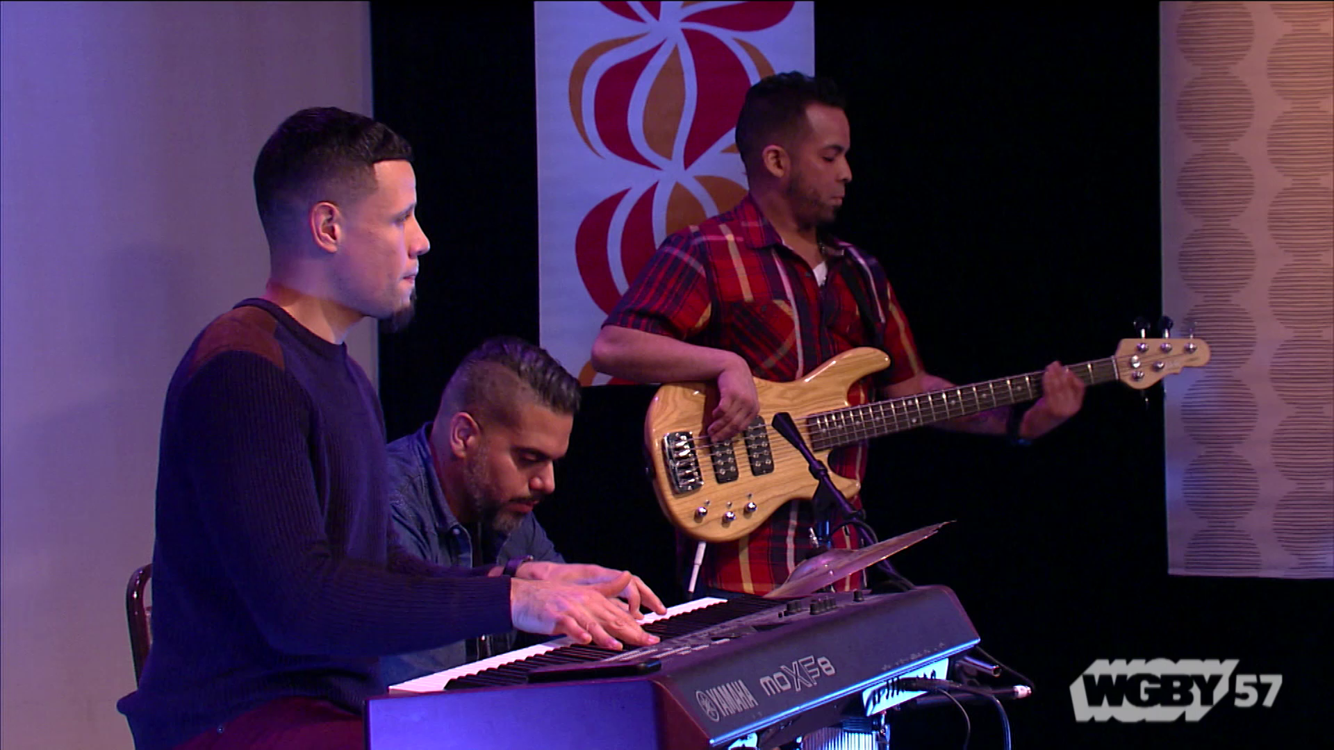 "The non-denominational, 30-member Restoration Worship Center band has been playing Christian music for nine years. Here, RWC performs ""Eres Mi Amigo Fiel."""